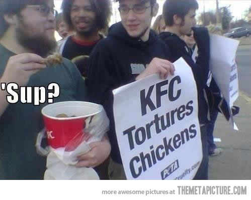 funny-kfc-chicken-protest