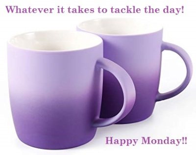 purple coffee mug